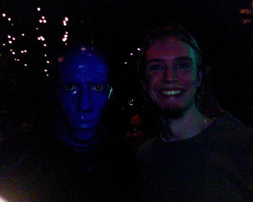Me and one of those awesome Blue Men