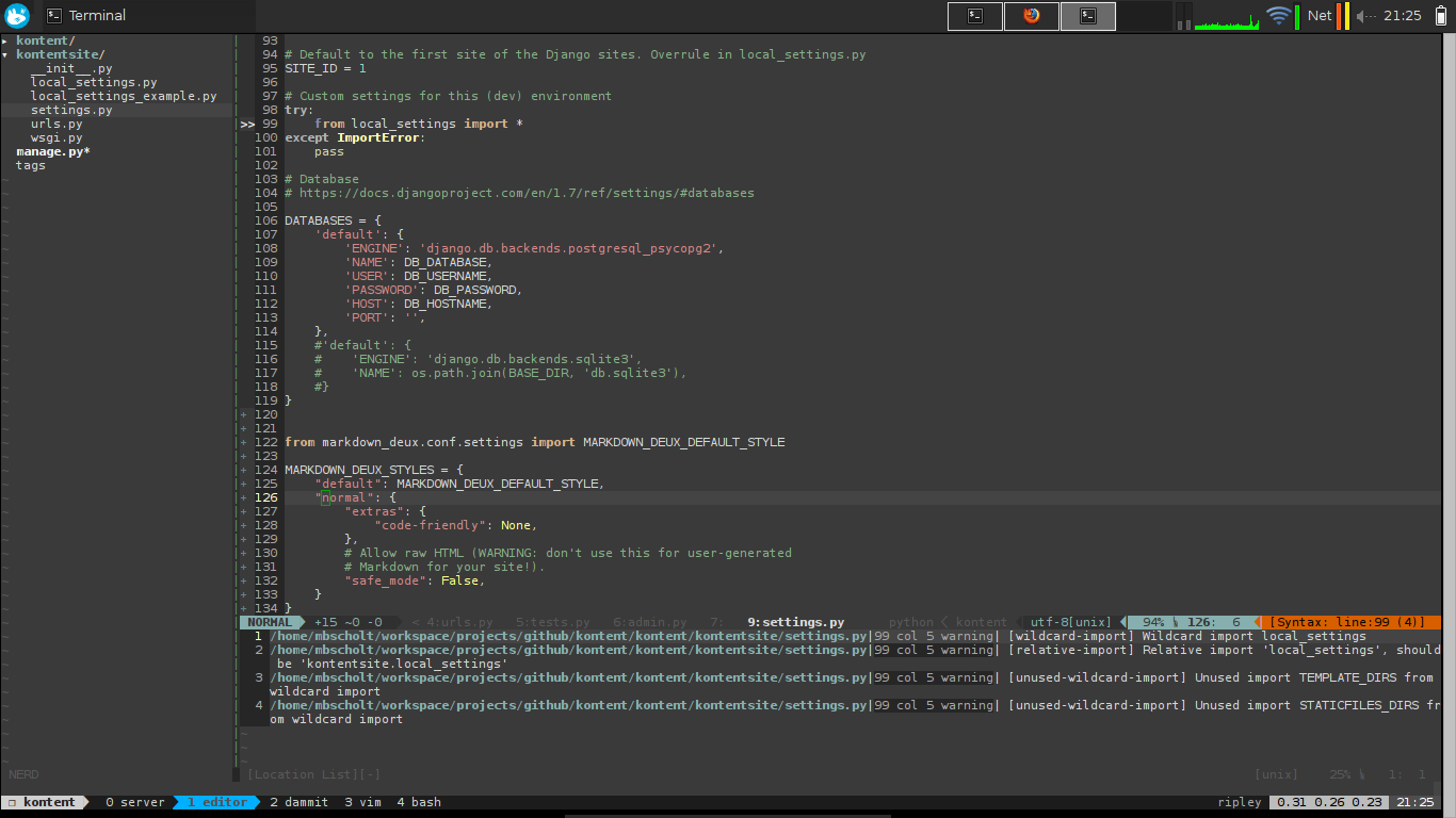 Hacktop with vim