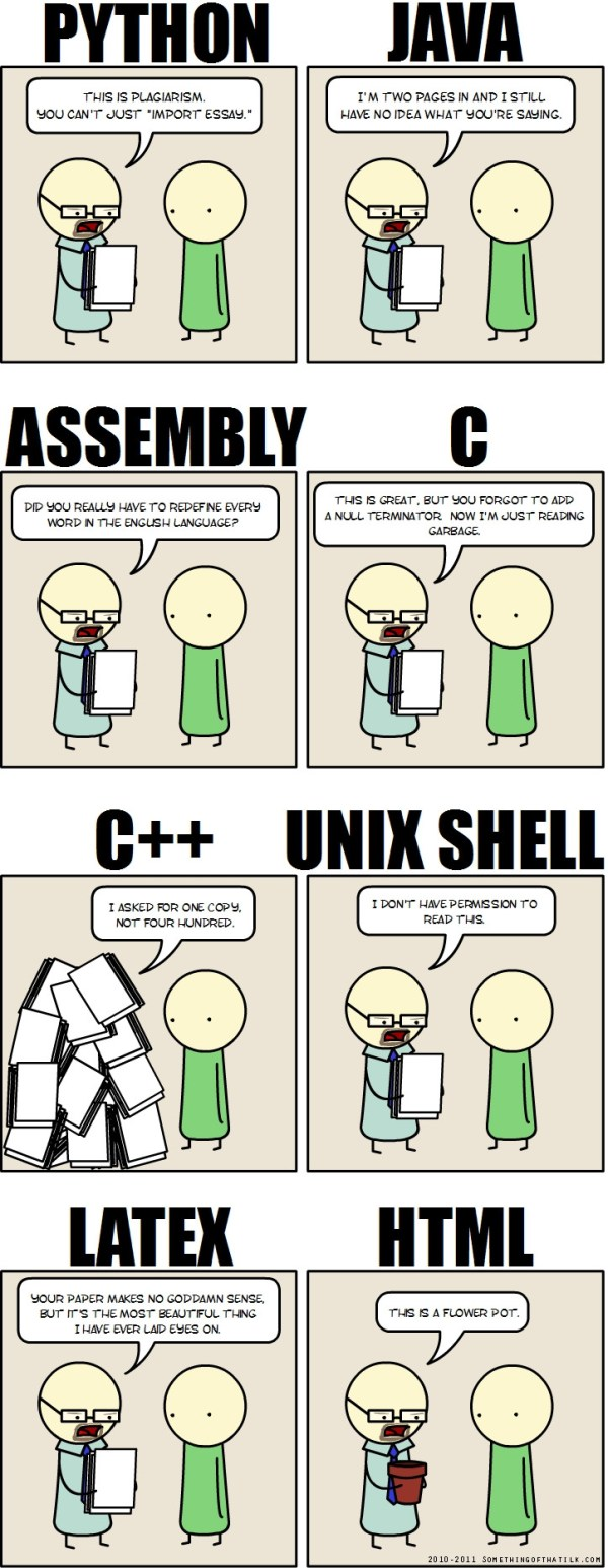 If (programming) languages were essays