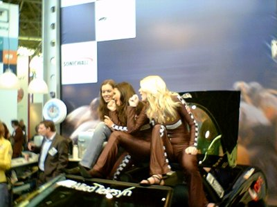Boothbabes on sportscar